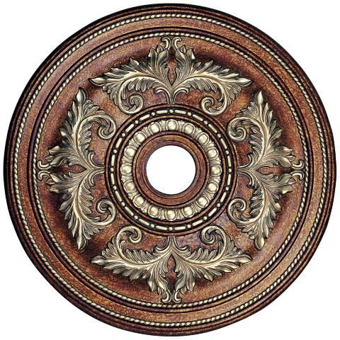 Pascola 30 1 2 Quot Wide Palatial Bronze Ceiling Medallion