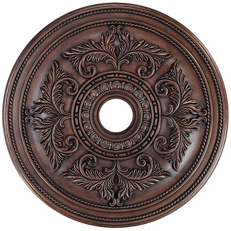 """Pascola 30 1/2"""" Wide Imperial Bronze Ceiling Medallion"""
