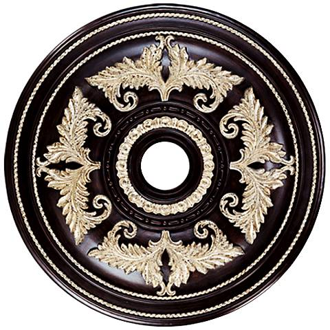 "Pascola 30 1/2"" Wide Hand-Rubbed Bronze Ceiling Medallion"