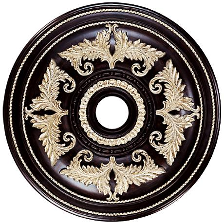 """Pascola 30 1/2"""" Wide Hand-Rubbed Bronze Ceiling Medallion"""