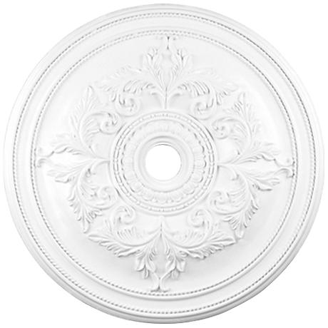 """Pascola 40 1/2"""" Wide White Ceiling Medallion"""