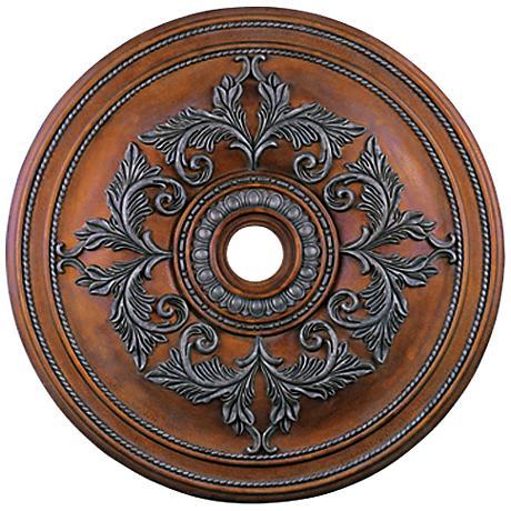 "Pascola 40 1/2"" Wide Crackled Bronze Ceiling Medallion"