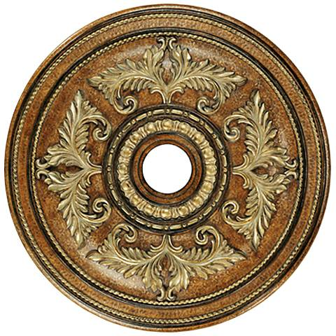 "Pascola 40 1/2"" Wide Venetian Patina Ceiling Medallion"