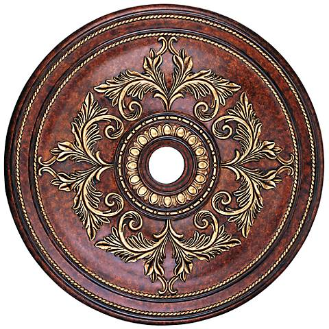 "Pascola 40 1/2"" Wide Verona Bronze Ceiling Medallion"