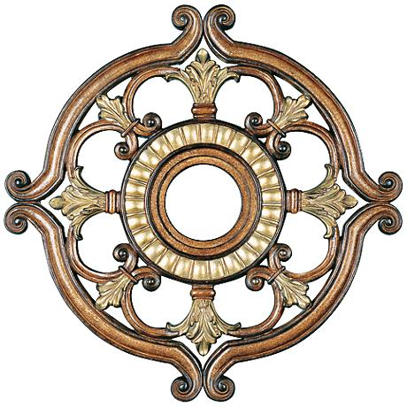 "Lavonia 23 1/2"" Wide Venetian Patina Ceiling Medallion"