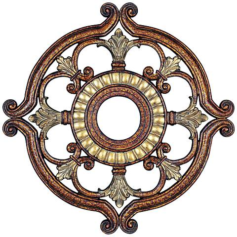 "Lavonia 18"" Wide Palatial Bronze Ceiling Medallion"