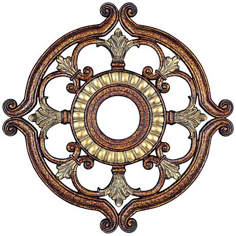 """Lavonia 18"""" Wide Palatial Bronze Ceiling Medallion"""