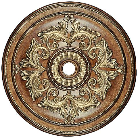 "Pascola 48 1/2"" Wide Venetian Patina Ceiling Medallion"