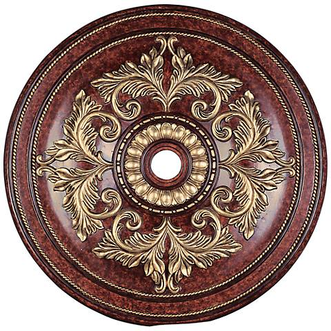 "Pascola 48 1/2"" Wide Verona Bronze Ceiling Medallion"