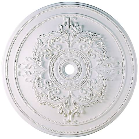 "Pascola 60"" Wide White Ceiling Medallion"