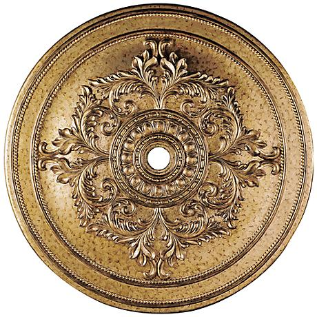 """Pascola 60"""" Wide Vintage Gold Leaf Ceiling Medallion"""