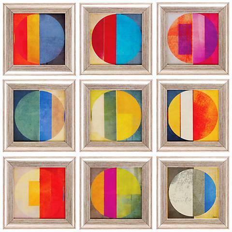 "Pattern Tiles I 10"" Square 9-Piece Wall Art Set"