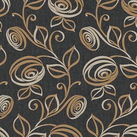York Sure Strip Dark Gray Spiral Dance Removable Wallpaper