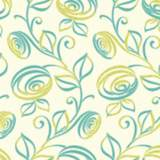 York Sure Strip Turquoise Spiral Dance Removable Wallpaper
