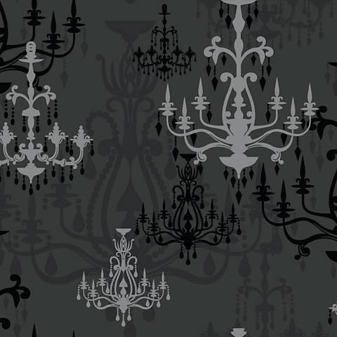 York Sure Strip Black Luminary Removable Wallpaper