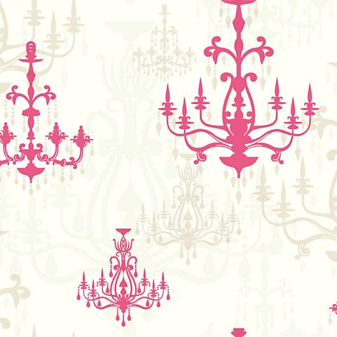 York Sure Strip Pink Luminary Removable Wallpaper