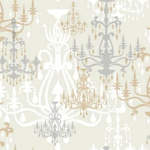York Sure Strip Gray Luminary Removable Wallpaper