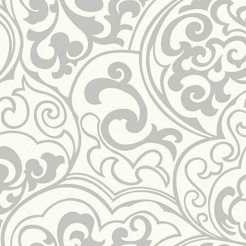 York Sure Strip Glitter Pewter Divine Removable Wallpaper