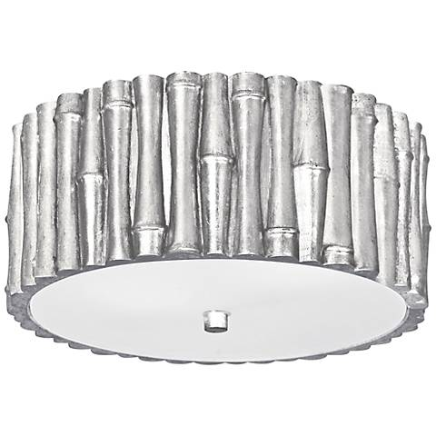 "Crystorama Masefield 11 1/4"" Wide Silver Ceiling Light"
