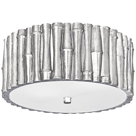 """Crystorama Masefield 11 1/4"""" Wide Silver Ceiling Light"""
