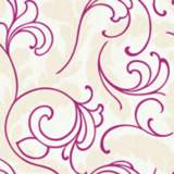 York Sure Strip Magenta Serpentine Scroll Wallpaper