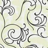 York Sure Strip White Leather Serpentine Scroll Wallpaper