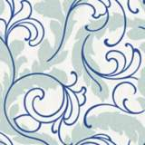 York Sure Strip Cobalt Blue Serpentine Scroll Wallpaper
