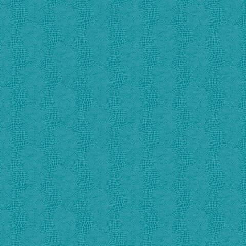 York Sure Strip Turquoise Faux Leather Primal Wallpaper