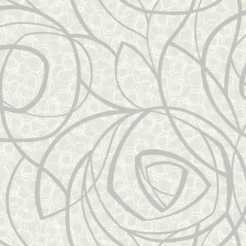 York Sure Strip Silver Diamond Oasis Removable Wallpaper