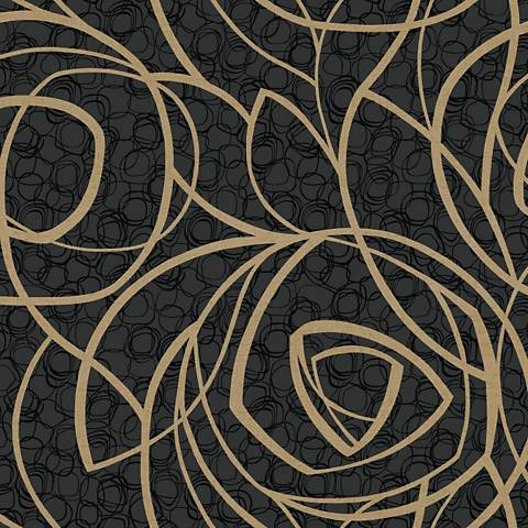 York Sure Strip Black Diamond Oasis Removable Wallpaper