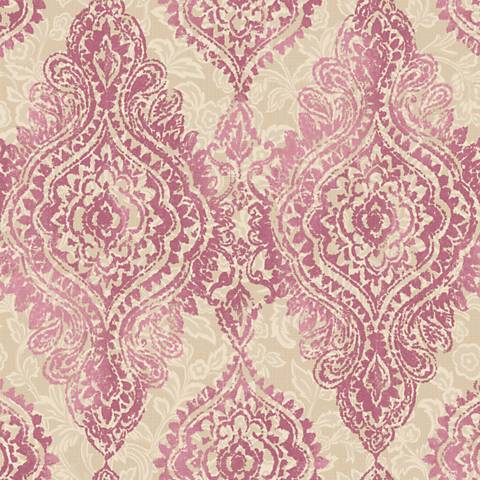 York Sure Strip Pink Boho Chic Removable Wallpaper