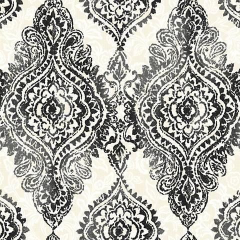 York Sure Strip Black Boho Chic Removable Wallpaper