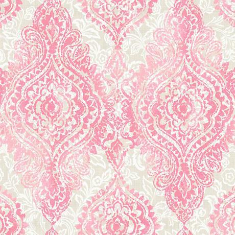 York Sure Strip Light Pink Boho Chic Removable Wallpaper