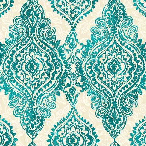 York Sure Strip Turquoise Boho Chic Removable Wallpaper