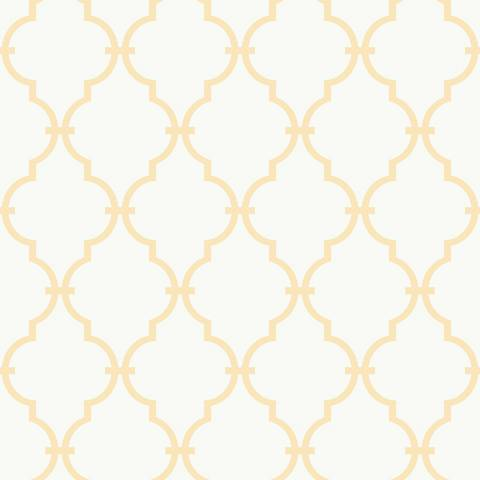 York Sure Strip Soft Yellow Graphic Trellis Wallpaper