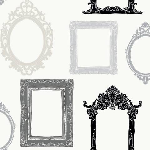 York Sure Strip Gray Picture Gallery Removable Wallpaper