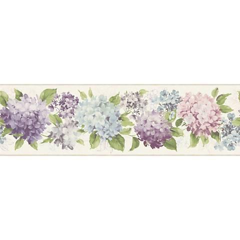 York Sure Strip Lavender Hydrangea Removable Border