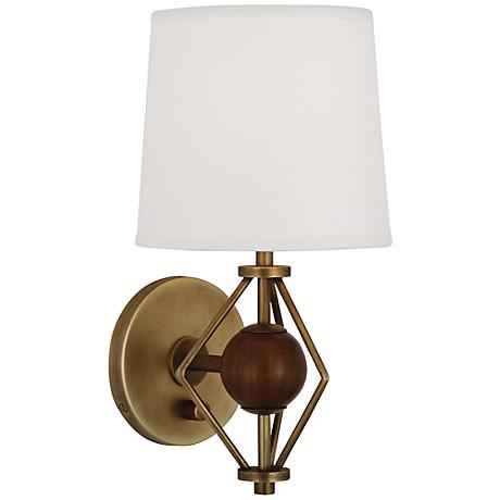 Lamps Plus Plug In Wall Sconces : Ojai Antique Brass Wall Sconce by Jonathan Adler - #6H005 Lamps Plus