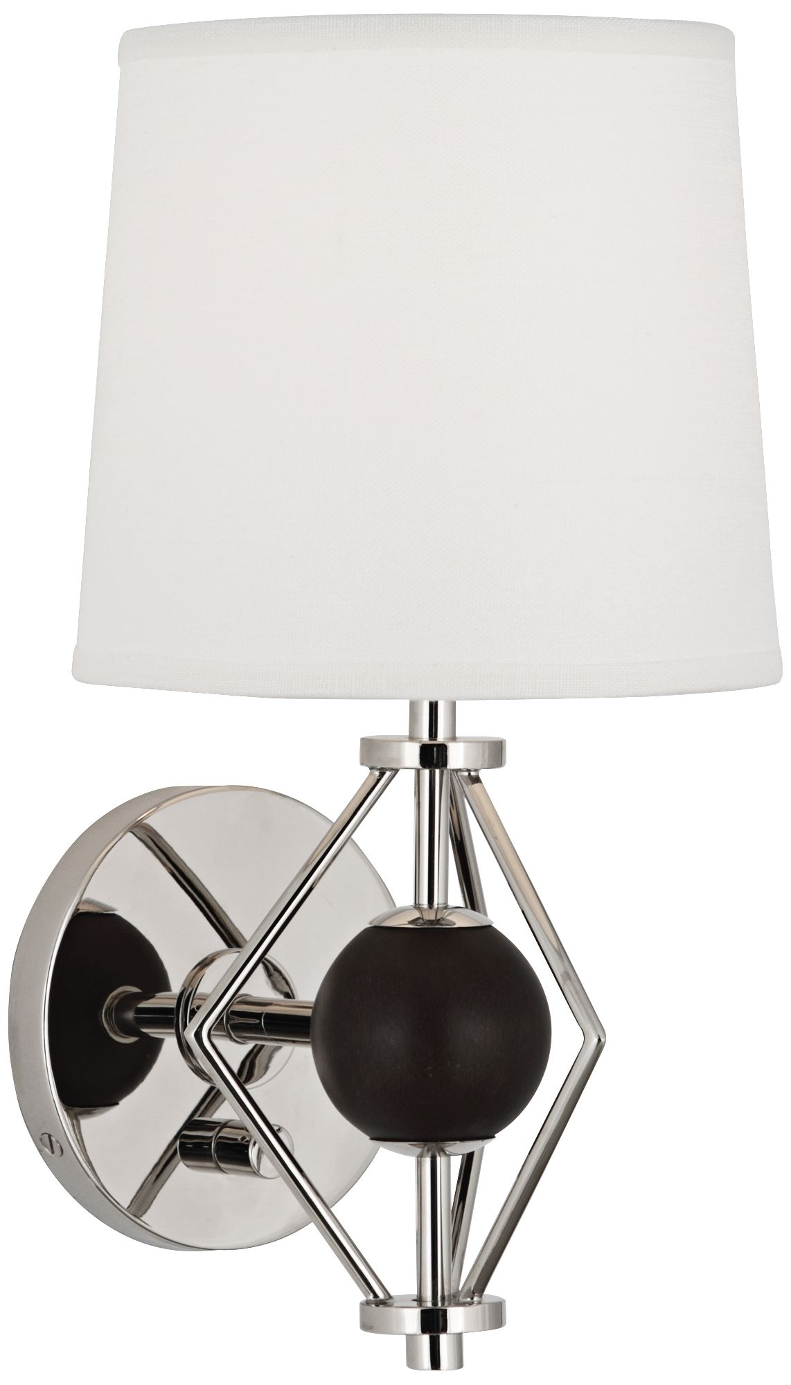 ojai polished nickel wall sconce by jonathan adler