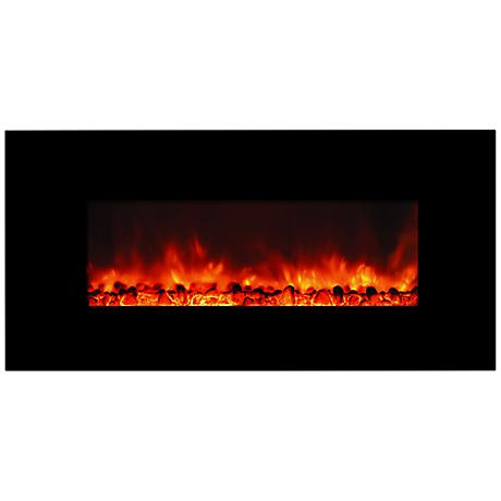 Yosemite Carbon Flame 44 Wall-Mount Electric Fireplace