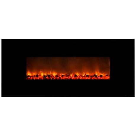 Yosemite Carbon Flame 58 Wall-Mount Electric Fireplace