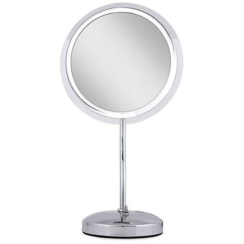 Chrome S-Neck Surround Light 7X Magnified Makeup Mirror