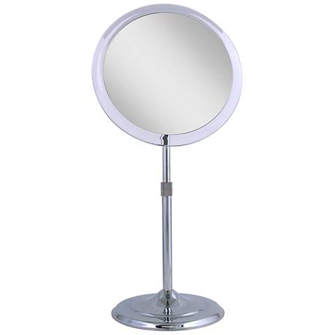 Chrome Telescoping 5X Magnified Makeup Mirror