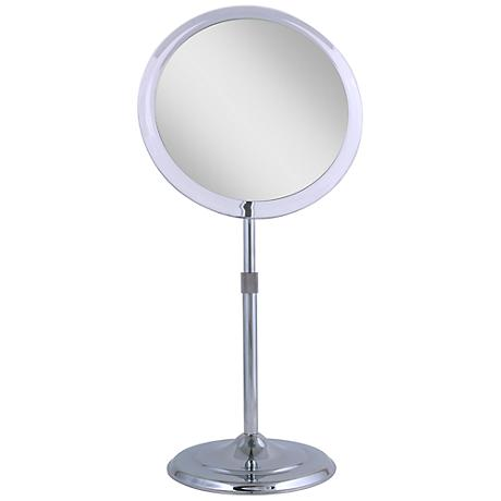 Chrome Telescoping 5X Magnified Makeup Mirror