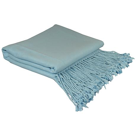 Baby Blue Bamboo Throw Blanket