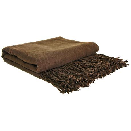 Chocolate Bamboo Throw Blanket