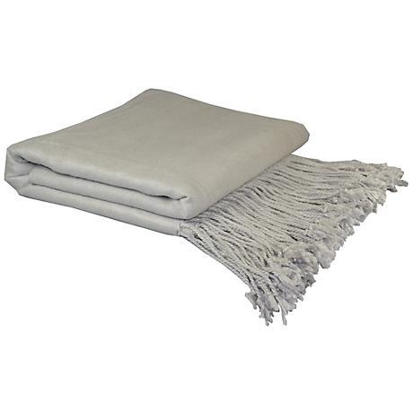 Dove Gray Bamboo Throw Blanket