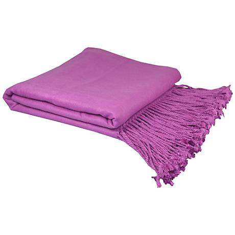 Orchid Bamboo Throw Blanket