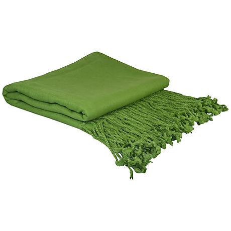 Parrot Green Bamboo Throw Blanket