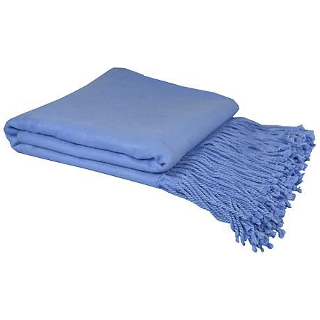 Periwinkle Bamboo Throw Blanket